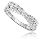Image for Round Diamond Crossover Eternity Ring