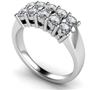 Ten Stone Round Diamond Half Eternity Ring