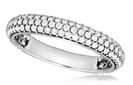 Round Diamond Three Row Eternity Ring