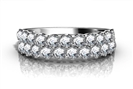 Image for Two Row Round Diamond Eternity Ring