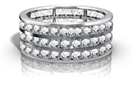 Image for Triple Row Round Diamond Eternity Ring