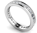 Elegant Princess Diamond Full Eternity Ring