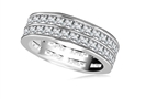 Image for Two Row Princess Cut Diamond Full Eternity Ring
