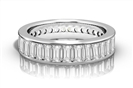 Elegant Baguette Diamond Full Eternity Ring