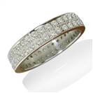 Image for Double Row Round Diamond Full Eternity Ring