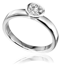 0.30CT SI2/G Round Diamond Solitaire Ring