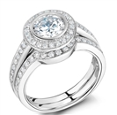 Diamond Shoulder Set Ring With Matching Band