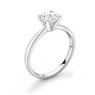0.93CT SI1/H Round Diamond Solitaire Ring