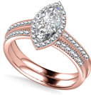 Image for Marquise Shoulder Set Ring With Matching Band