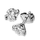 Image for Unique Two Prong Round Diamond Stud Earrings