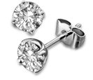 Classic Round Diamond Stud Earrings