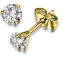 Image for 3 Claw Round Diamond Stud Earrings