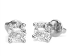 Image for Classic Round Diamond Stud Earrings