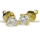 Image for Shared Claw Round Diamond Stud Earrings