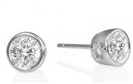 Image for Modern Round Diamond Stud Earrings