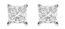Lucida Princess Cut Diamond Earrings