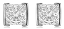Eclipse Princess Cut Diamond Earrings