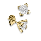 Image for Four Corner Prong Princess Diamond Stud Earrings