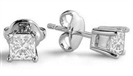 Traditional Princess Diamond Stud Earrings