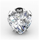 Image for Modern Heart Diamond Stud Earrings