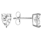 Image for Classic Heart Diamond Stud Earrings