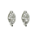 Image for Modern Marquise Diamond Stud Earrings