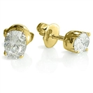 Image for Traditional Oval Diamond Stud Earrings