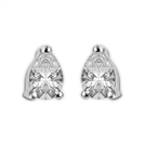 Image for Modern Pear Diamond Stud Earrings