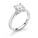 1.00CT SI2/D Round Diamond Solitaire Ring
