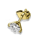 Image for Unique Two Prong Round Diamond Single Stud Earring