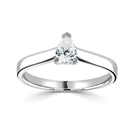 GIA CERTIFIED 0.50CT IF/D Pear Diamond Solitaire Ring