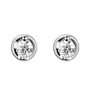 Petite Round Diamond Stud Earrings
