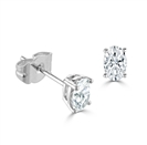 Image for Classic Oval Diamond Stud Earrings