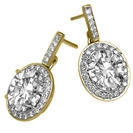 Image for Oval Diamond Single Halo Earrings