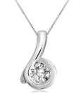 Image for Flick Designer Round Diamond Pendant