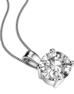 Traditional Round Diamond Solitaire Pendant