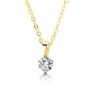 Image for Three Prong Round Diamond Pendant