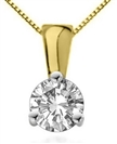Image for Elegant Round Diamond Soitaire Pendant