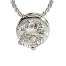 Image for Six Claw Round Diamond Solitaire Pendant