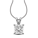 Traditional Princess Diamond Pendant