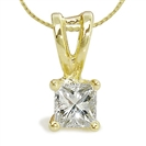 Image for Traditional Princess Diamond Solitaire Pendant
