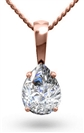 Image for Pear Diamond Solitaire Pendant
