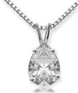 Image for Classic Pear Diamond Solitaire Pendant