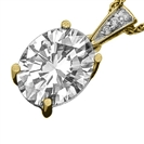 Image for Modern Oval & Round Diamond Pendant