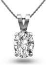 Oval Diamond Solitaire Pendant