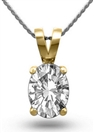Image for Oval Diamond Solitaire Pendant