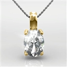 Image for Classic Oval Diamond Solitaire Pendant