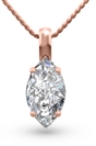 Image for Marquise Diamond Solitaire Pendant