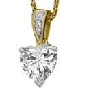 Image for Modern Heart & Round Diamond Pendant