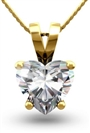 Image for Heart Diamond Solitaire Pendant